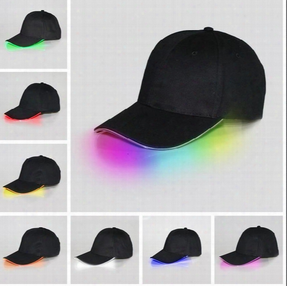 Bright Led Black White Cap Glow In Dark For Reading Fishing Jogging Light Up Led Sport Hat Baseball Caps Christmas Luminous Holiday Hats
