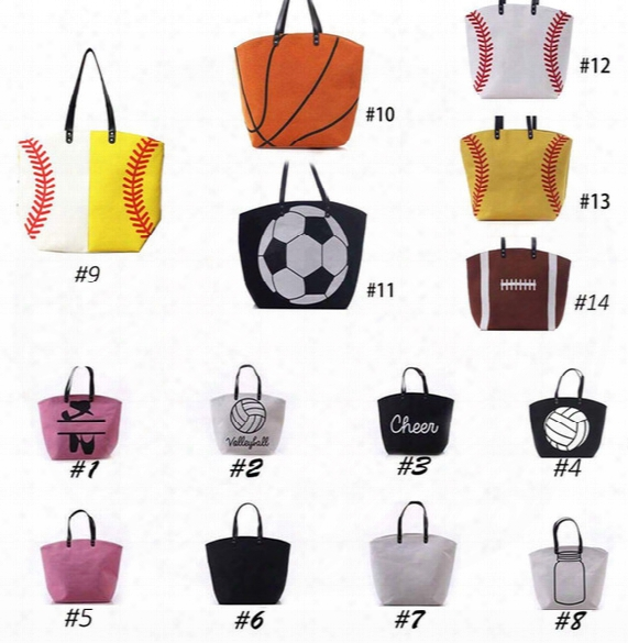 Canvas Bag Baseball Tote Bags Sports Bags Casual Tote Softball Bag Football Soccer Basketball Bag Cotton Canvas Material 170420