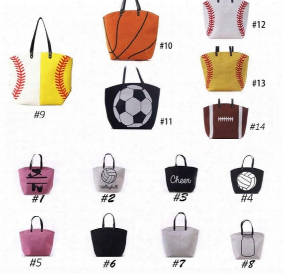 Canvas Bag Baseball Tote Sports Bags Casual Softball Bag Football Soccer Basketball Cotton Canvas Tote Bag Kka1814