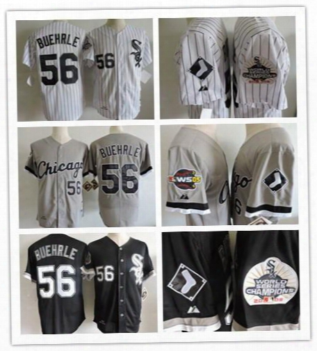 Cheap 56 Mark Buehrle Chicago White Sox 2005 World Series Champions Patch Turn Back Retro Throwback Baseball Jerseys Best Stitched Embroided