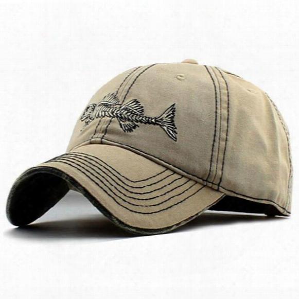 Cheap Fitted Baseball Caps Hat Snapbacks For Men Cotton Fish Bone Casual Women Outdoor Exercise Brands Sports Snapback Black Khaki Orange