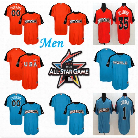 Cheap Personalized M En's 2017 Mlb All-star Game Baseball Jerseys Custom Futures Game Authentic On-field Baseball Jerseys Stitched Size S-6xl