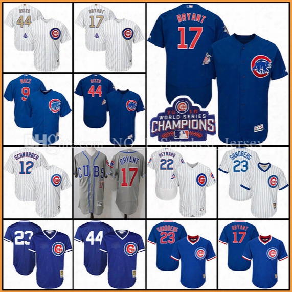 Chicago Cubs Jersey Anthony Rizzo Kris Bryant Jersey Jason Heyward Jake Arrieta Ryne Sandberg Baez Schwarber Baseball Jerseys Gold Program