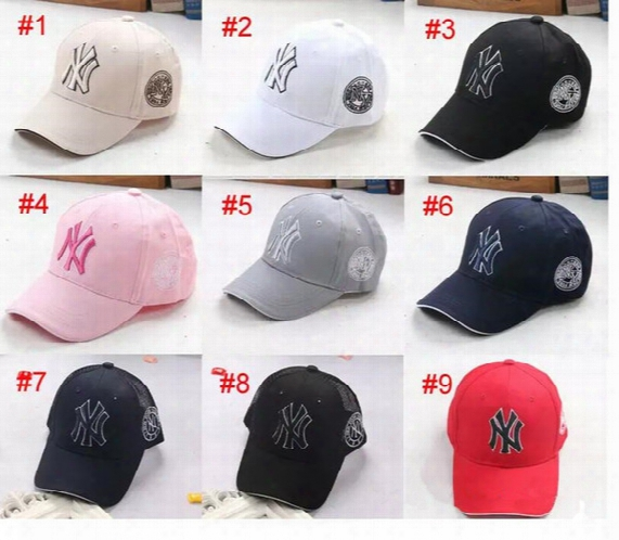 Children Baseball Mlb Cap 9 Color Ny Embroidery Letter Adjustable Snapback Hip Hop Dance Hats Kids Outdoor Cap Hat