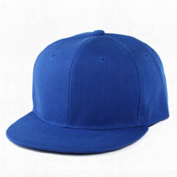 Classic Snapback Hat Blank Cap Plain Adjustable Hip Hop Baseball Cap Colorful Hats For Man And Woman