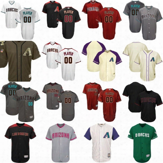 Custom Diamondbacks Jersey Mens Womens Youth Arizona Diamondbacks Personalized Authentic Collection Customized Jerseys Mix Order Wholesale