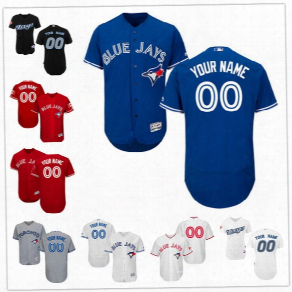 Custom Flex Base Toronto Blue Jays Donaldson Sanchez Osuna Martin Smoak Bautista Gray White Gray Stitched Any Name Number Mens Jerseys S-4xl