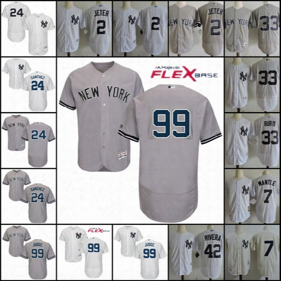 Derek Jeter New York Yankee Jersey, #99 Aaron Judge Home White Cool Base Jersey, 24 Gary Sanchez,33 Greg Bird Yankee Flex Base Jersey