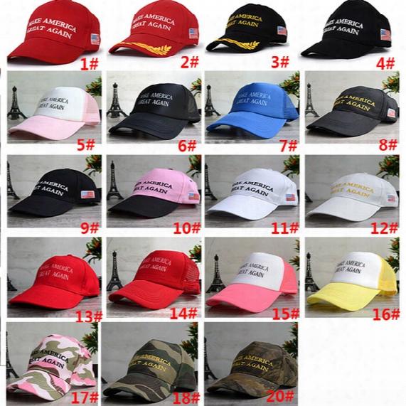 Dhl Unisex Women Men Make America Great Again Baseball Hats Donald Republican Mesh Snapbacks Basketball Ball Hat Cap Stylish Fb-h03