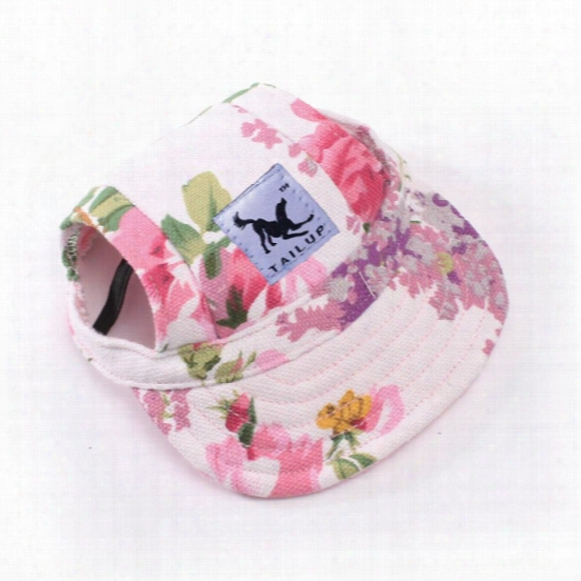 Dog Hat With Ear Holes Summer Canvas Baseball Cap For Small Pet Dog Outdoor Accessories Hiking Pet Products -10 Styles