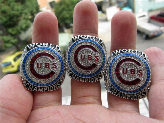 Drop Shipping High Quality Zobrist Rizzo Bryant 2016 Chicago Cubs World Series Championship Ring 3 Together Baseball Sport Fan Men Gift