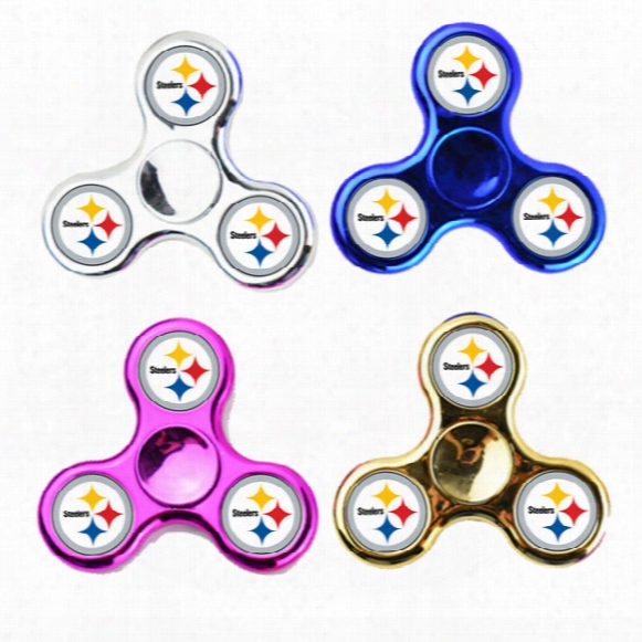 Fidget Spinners Chrome Broncos Chicago Cubs Logo Warriors Baseball Team Hand Spinner Abs And Metal Color Decompression Finger Toy Pvc Box