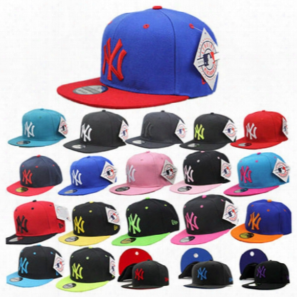 Free Dhl 27 Color Yankees Hip Hop Mlb Snapback Baseball Caps Ny Hats Mlb Unisex Sports New York Women Casquette Men Casual Headware