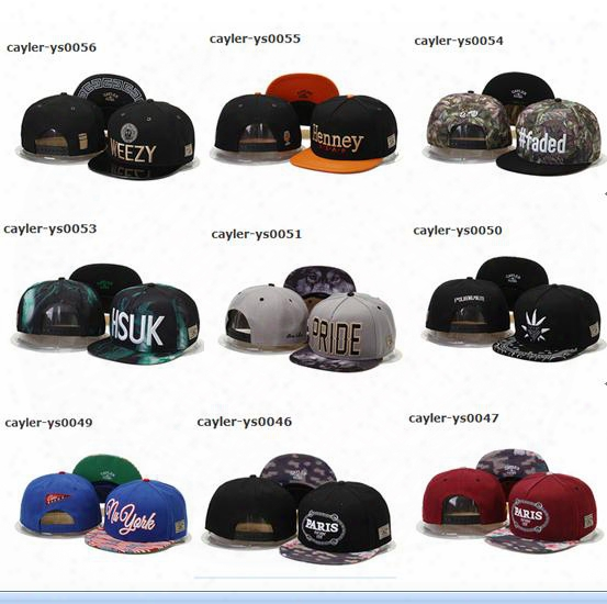 Free Shipping By Dhl Or Ems New Design Snapback Hats Cap Cayler & Sons Snapbacks Snap Back Baseball Sports Caps Hat Adjustable High Quality