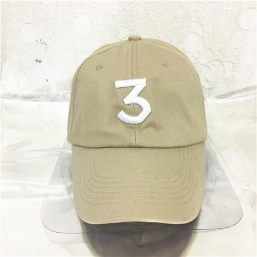 325dd6d1b41 Free Shipping Chance 3 The Rapper Caps Streetwear Kanye West Dad Cap Letter  Baseball Cap Coloring