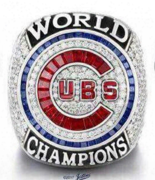 Free Shipping High Quality 2017 Wholesale 2016 Chicago Cubs World Series Championship Ring Baseball Souvenir Sport Fan Men Gift Wholesale