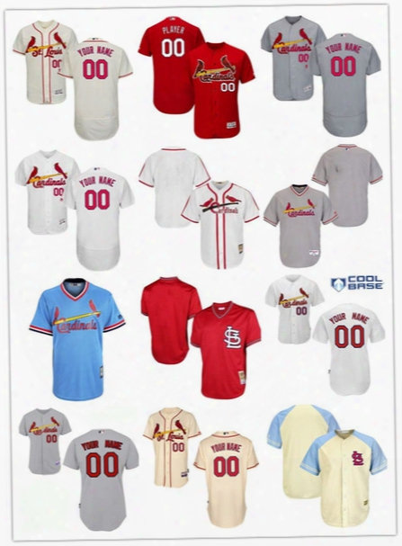 Free Shipping Men's Custom Any Name Number St. Louis Cardinals Blank Baseball Jersey Flexbase Collection For Sale Stitched Size S-6xl