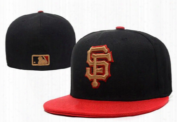 Free Shipping Mlb San Francisco Giants Baseball Cap Embroidered Team Logo Fitted Cap Sport Fit Hats