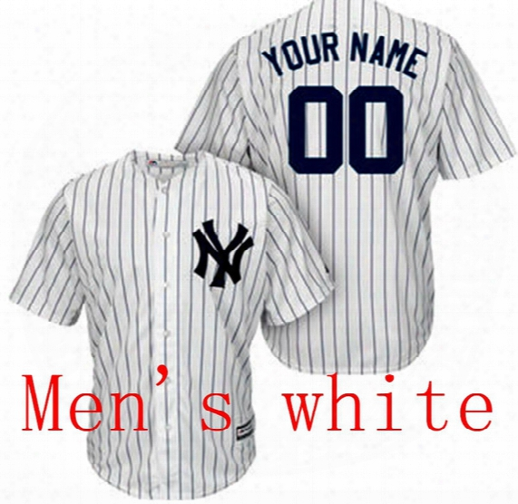 Free Shipping To Lal Country!!!baseball Jersey New York Yankees Custom Jersey Personalized Jersey Any Name ,any Count ,name Number Stitched