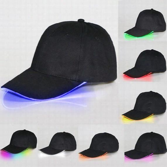 Hot Baseball Caps Hats Led Luminous Party Fiber Optic Hat Women Men Hockey Snapback Basketball Ball Caps Unisex Visor Tourism Wx-h01