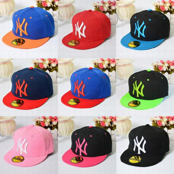 Hot Selling Men's Women's Basketball Cap Ny Bboy Snapback Baseball Caps Adjustable Adult Sports Street Hats Flat Hip Hop Caps Free Shipping