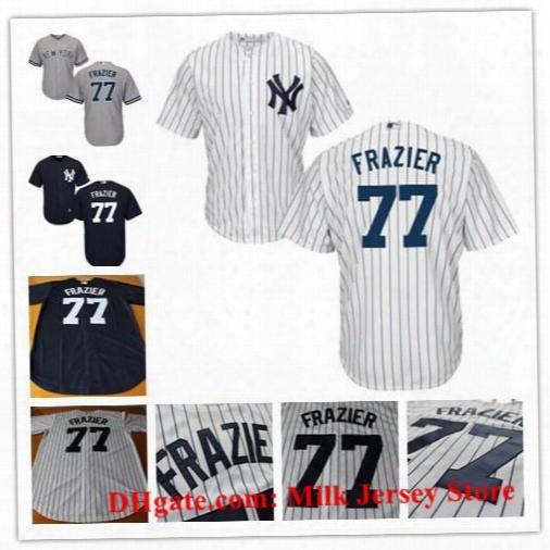 Men's Women Youth #77 Clint Frazier Jersey Sonny Gray Todd Frazier David Robertson Garrett Cooper New York Yankees Baseball Jerseys White