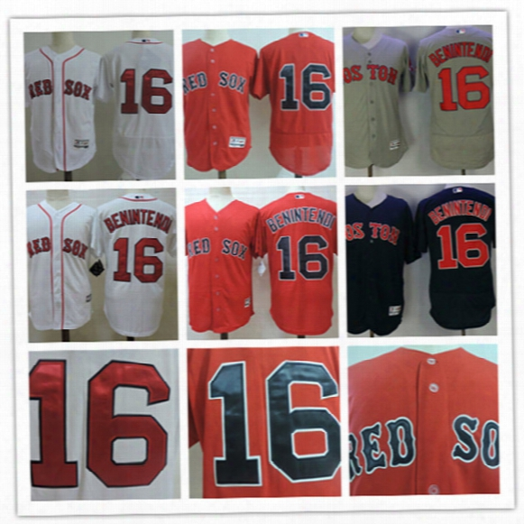 Mens White Boston Red Sox Andrew Benintendi Cool Base Jersey Stiched Navy Blue Gray #16 Andrew Benintendi Red Sox Flex Base Jerseys S-3xl
