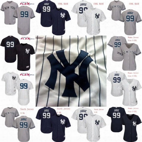 Mens Womens Youth 99 Aaron Judge Jersey 2017 New York Yankees Personalized Custom Flex Base Cool Base Baseball Jerseys Stitched Logo