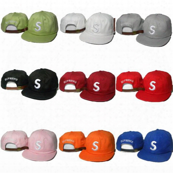 New 9 Styles Snapbacks Supremes Caps Hats Adjustable Suprem Snabpack Baseball Hip Hop Sports Cap Hat Cheap Sale