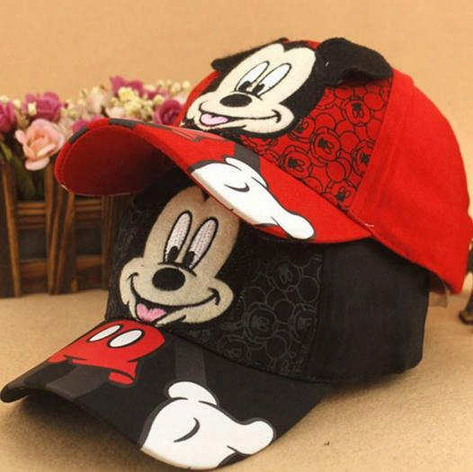 New Baseball Cap Kids Baby Boys Girls Adjustable Caps Fashion Mickey Minnie Children Hats Bone