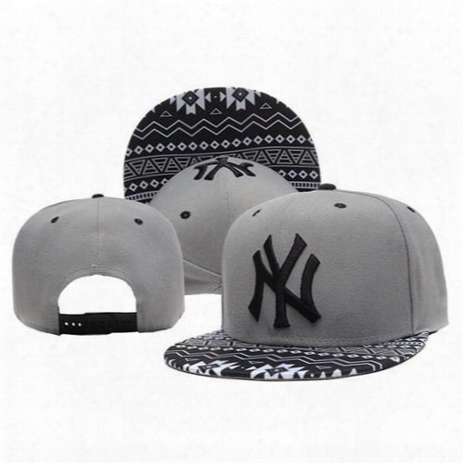 New York Snapbacks Caps Yankees Snap Back Hats Grey Ny Baseball Caps Hottest Snap Backs Fashion Hip Hop Hats Summer Caps Team Sports Caps