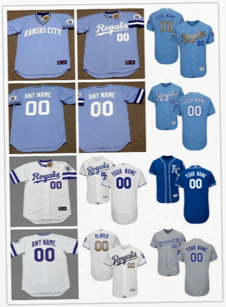 Newest-mens Custom Kansas City Royals White Gold Program Flex Base Baseball Jerseys Stitched Kansas City Royals Personal Cool Base Jerseys