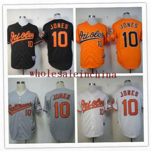 Orioles Baseball Jerseys Men #10 Jones White Grey Camo Black Orange Jerseys Stitched Top Quality Mix Order Free Fast Shipping