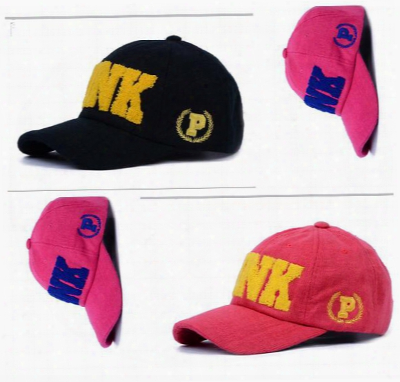 Pink Hats Baseball Caps Vs Fashion Sport Women Men Summer Spring Cotton Cap$ Youth Pink Letters Breathable Adult Thick Autumn Hats
