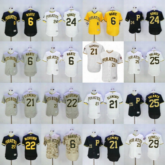 Pittsburgh Pirates Jersey Flexbase Starling Marte Willie Stargell Andrew Mccutchen Gregory Polanco Francisco Cervelli Cole Barry Bonds