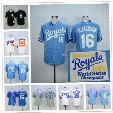 Bo Jackson Jersey Kansas City Royals Baseball 1985 1987 Turn Back Chicago White Sox Auburn 29# Blue White Cooperstown