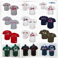 Boston Red Sox #34 David Ortiz Navy Blue Usa Flag Gray Red Black White Fashion Stars Green Stitched Majestic MLB Baseball Jerseys for Sale