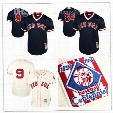 Stitched Boston Red Sox Ted Williams Throwback Baseball Jersey 34 David Ortiz Embroidery Mitchell & Ness Mesh 1990 Cooperstown Jerseys