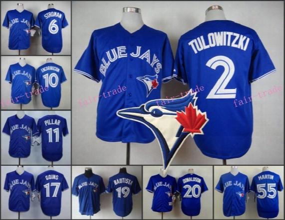 Toronto Blue Jays Jersey Troy Tulowitzki Marcus Stroman Encarnacion Kevin Pillar Ryan Goins Jose Bautista Josh Donaldson Martin