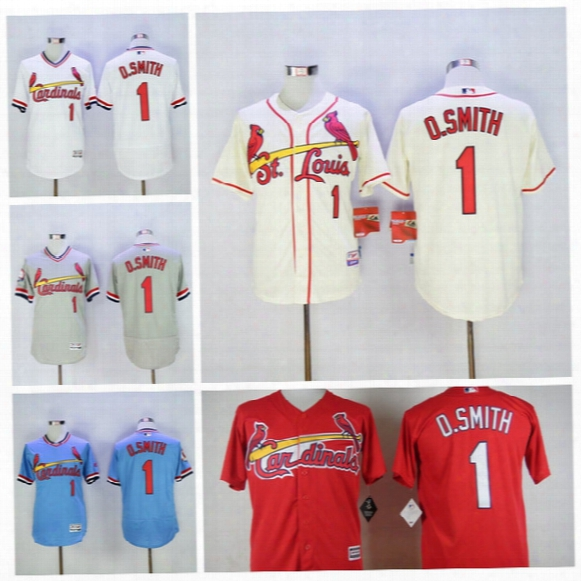 best authentic 566ea b79e9 Vintage 1 Ozzie Smith Jersey St. Louis Cardinals Baseball ...