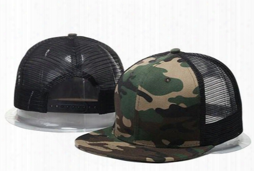 Wholesale 2017 Summer Style Adjustable Blank Mesh Camo Baseball Caps Snapback Hats For Men Women Fashion Sports Hip Hop Bone