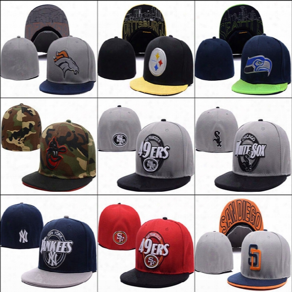 Wholesale-(20pcs/lot)new Arrive Cheap Men Andw Omen Fitted Caps,sport Fitted Hats,hiphop Cap, Baseball Hats Men Fitted Hats,free Shipping