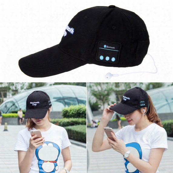 Wireless Bluetooth Headphone Sports Baseball Cap Canvas Sun Hat Music Handsfree Headset With Mic Speaker For Smart Phone With Retail Box