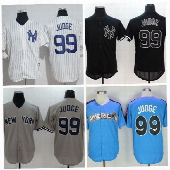 Yankees #99 Aaron Judge Baseball Jersey Blue 2017 All Star Game Jersey Cheap Baseball Jersey Online Sale Customs Baseball Shirts Shop