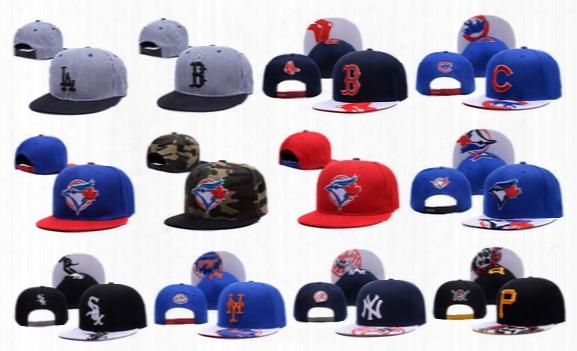 Yankees Hip Hop Mlb Snapback Baseball Caps Ny Hats Mlb Unisex Sports Pittsburgh Pir Ates Adjustable Bone Women Men Casual Blue Jays