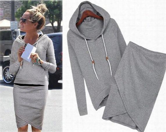 2015 Women Baseball Jacket Casual Sweat Skirt Suits Sport Sweatshirt Shorts Tracksuits Animal Hoodies Dress Suit 2pcs/set Df-258
