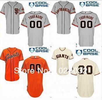 2016 New Custom San Francisco Giants Baseball Jersey Customized Personalized Stitched Jerseys Men's Size Small-4xl Women's Kids Yo