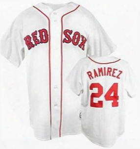 2016 New Manny Ramirez Boston Red Sox #24 Manny Ramirez Jersey Home Away White Red Gray Jerseys Size Small-4xl Free Shipping