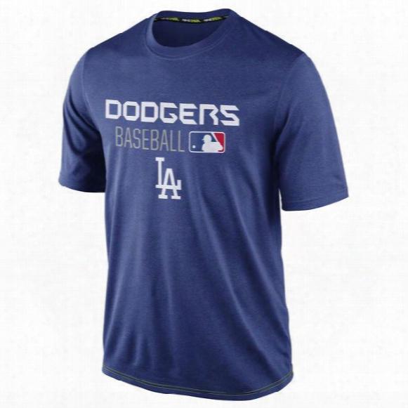 2016 New Mlb Men Los Angeles Dodgers Short Sleeve Legend Team Issue Performance T-shirt Royal Blue Mlb Baseball T-shirts