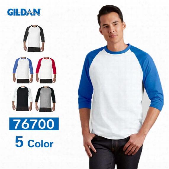 2016 New Raglan 3/4 Sleeve T Shirts For Men 100% Cotton Baseball Sports Mens T Shirts Jersey Crew Neck Blank Tshirt Customization